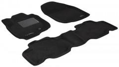 Коврики в салон для Toyota RAV4 '06-12 текстильные 3D, черные (3D Mats)