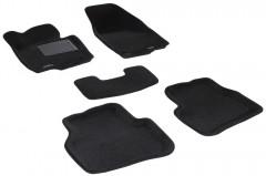 Коврики в салон для Volkswagen Passat B7 '10-14 текстильные 3D, черные (3D Mats)