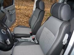 Авточехлы Premium для салона Volkswagen Caddy '04-15 серая строчка, передние (MW Brothers)