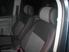 Авточехлы Premium для салона Volkswagen Caddy '04-15 красная строчка, пeредние (MW Brothers)