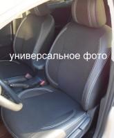 Авточехлы Premium для салона Volkswagen Passat B7 '10-14, седан, серая строчка (MW Brothers)