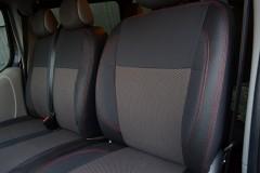 Авточехлы Premium для салона Opel Vivaro '01-14 красная строчка (1+2) (MW Brothers)