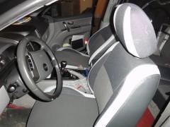 Авточехлы Premium для салона KIA Sorento '03-09 BL серая строчка (MW Brothers)