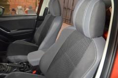 Авточехлы Premium для салона Mazda CX-5 '12-17 серая строчка (MW Brothers)