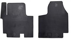 Коврики в салон для Renault Trafic '01-14 резиновые, черные (Doma)
