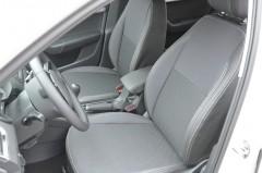 Авточехлы Premium для салона Skoda Octavia A7 '13-17, универсал, серая строчка (MW Brothers)