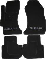 Коврики в салон для Subaru Impreza '12-16 текстильные, черные (Люкс)