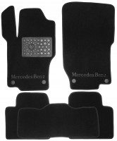 Коврики в салон для Mercedes ML-Class W164 '05-11 текстильные, черные (Люкс) 4 клипсы
