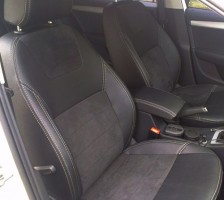 Авточехлы Leather Style для салона Skoda Octavia A5 '05-13, без заднего подлокотника (MW Brothers)