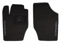 Коврики в салон для Citroen C4 '05-09 текстильные, черные (Люкс) передние