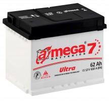 Автомобильный аккумулятор A-MEGA Ultra 62Ач, левый плюс