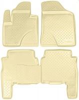Коврики в салон для Hyundai Santa Fe '10-12 CM полиуретановые, бежевые (Nor-Plast)
