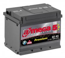 Автомобильный аккумулятор A-MEGA Premium 60Ач, левый плюс