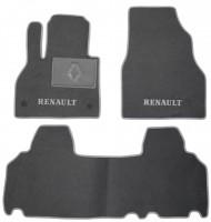 Коврики в салон для Renault Kangoo '09- текстильные, серые (Люкс) 2 клипсы