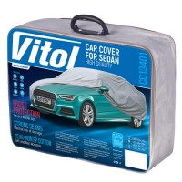 Тент автомобильный для седана Vitol Peva+PP Cotton L (CC13401)