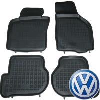Коврики в салон для Volkswagen Golf VI '09-12 резиновые, черные (Rezawplast)