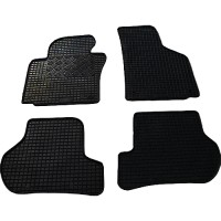 Коврики в салон для Volkswagen Golf V '04-09 резиновые, черные (Rigum)