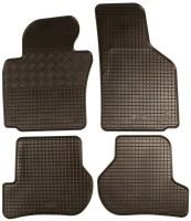 Коврики в салон для Volkswagen Jetta V '06-10 резиновые, черные (Rigum)