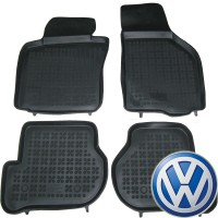 Коврики в салон для Volkswagen Scirocco '09-17 резиновые, черные (Rezawplast)