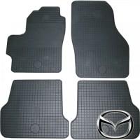 Коврики в салон для Mazda 3 '04-09 резиновые, серые (Rigum)