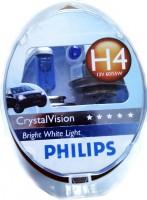 Автомобильная лампочка Philips CrystalVision H4 12V 60/55W (комплект: 2шт.)