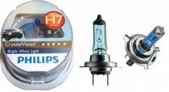 Автомобильная лампочка Philips CrystalVision H7 12V 55W (комплект: 2шт.)