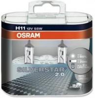 Автомобильная лампочка Osram Silverstar H11 12V (комплект: 2шт)