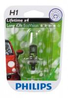 Автомобильная лампочка Philips LongLife EcoVision H1 12V 55W (в блистере)