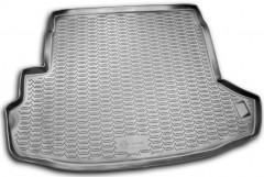 Коврик в багажник для Nissan X-Trail '08-15 (с органайзером), полиуретановый (Novline / Element) серый