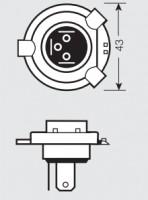 Фото 3 - Автомобильная лампочка Osram Standard H4 80/85W 12V