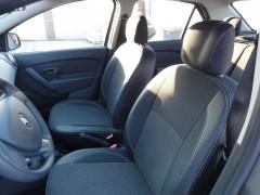 Авточехлы Premium для салона Renault Logan MCV '13-15 серая строчка, с цельной спинкой (MW Brothers)