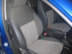 Авточехлы Premium для салона Hyundai Accent (Solaris) '11-17, седан, с цельной спинкой, синяя строчка (MW Brothers)