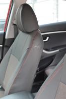 Авточехлы Premium для салона Hyundai i30 FL '13-16 универсал, красная строчка (MW Brothers)