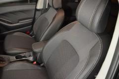 Авточехлы Premium для салона Kia Cerato '13- серая строчка (MW Brothers)