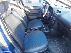 Фото 2 - Авточехлы Premium для салона Opel Astra G '98-10 синяя строчка (MW Brothers)