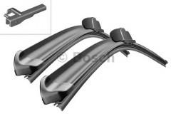 Щётки стеклоочистителя бескаркасные Bosch AeroTwin 530 и 530 мм. крепеж смещен (к-кт) A 925 S