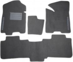 Коврики в салон для Hummer H2 '02- текстильные, серые (Люкс)