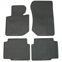 Коврики в салон для Volvo S60 '00-10/V70 '07-16 резиновые, черные (Petex)