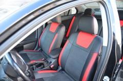 MW Brothers Авточехлы Leather Style для салона Mitsubishi Lancer X (10) мотор 1. 5, красные (MW Brothers)