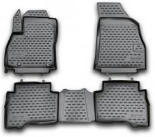 Коврики в салон для Fiat Fiorino Qubo '08- полиуретановые, черные (Novline / Element)