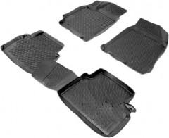 Коврики в салон для Daewoo Gentra '13- полиуретановые, черные (L.Locker)