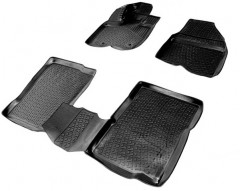 Коврики в салон 3D для Ford Explorer '11- полиуретановые, черные (L.Locker)