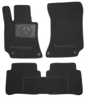 Textile-Pro Коврики в салон для Mercedes E-Class W212 '09-15 текстильные, черные (Премиум) 4 клипсы