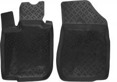 Коврики в салон передние для Renault Logan '13- полиуретановые, черные (Aileron)