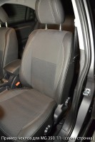Авточехлы Premium для салона MG 350 '11- красная строчка (MW Brothers)