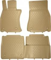 Коврики в салон для Lexus LS '12-17, 4WD, Long полиуретановые, бежевые (Novline / Element)