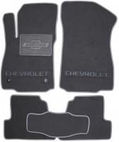 Коврики в салон для Chevrolet Tracker '13- текстильные, серые (Люкс) 2 клипсы