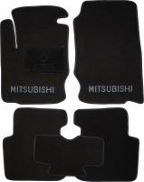 Коврики в салон для Mitsubishi Colt '03-10 текстильные, черные (Люкс) 3 дв.