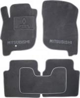 Коврики в салон для Mitsubishi Galant '04-12 текстильные, серые (Премиум)