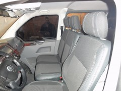 Авточехлы Premium для салона Volkswagen Transporter T5 '03-09 (1+2) серая строчка (MW Brothers)